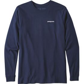 Patagonia P-6 Logo LS Responsabili-Tee Hombre, classic navy